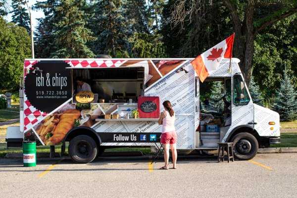 Kitchener's Ish and Chips Food Truck Summer of 2020