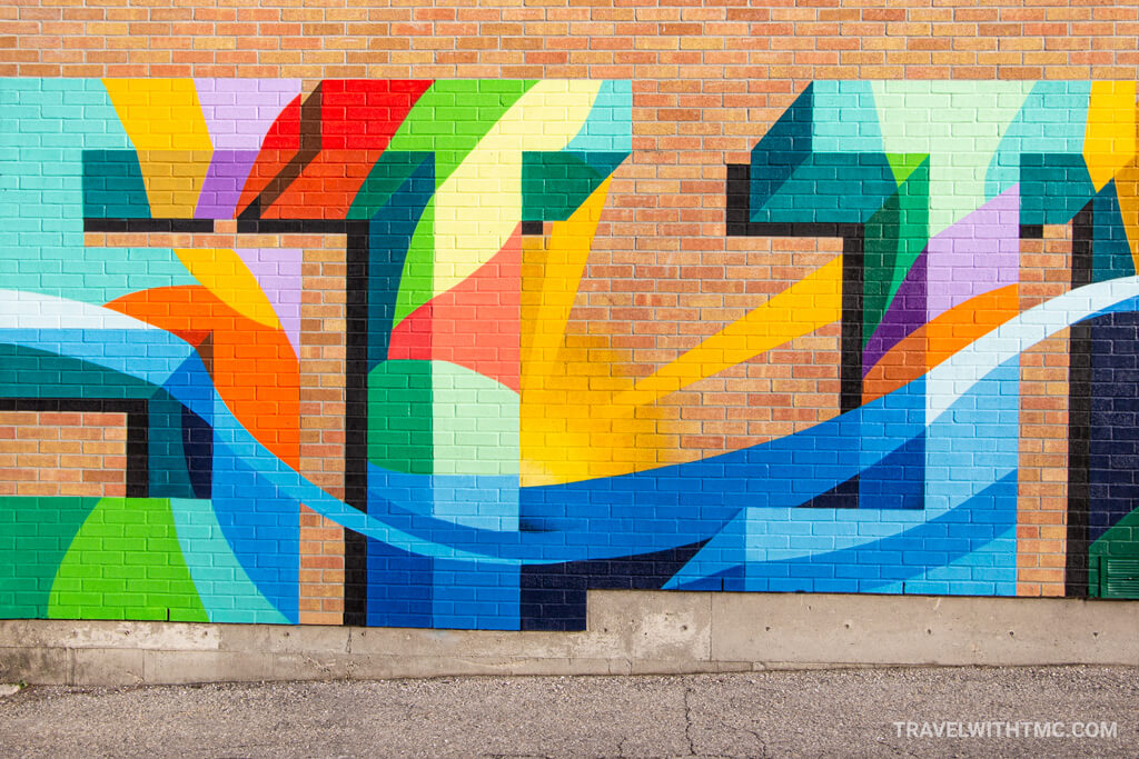 Colourful St. Jacobs Mural by Stephanie Boutari