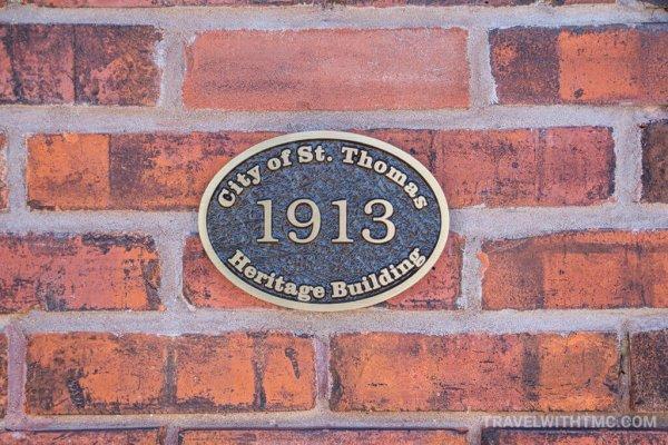 City of St. Thomas Heritage Building Plaque