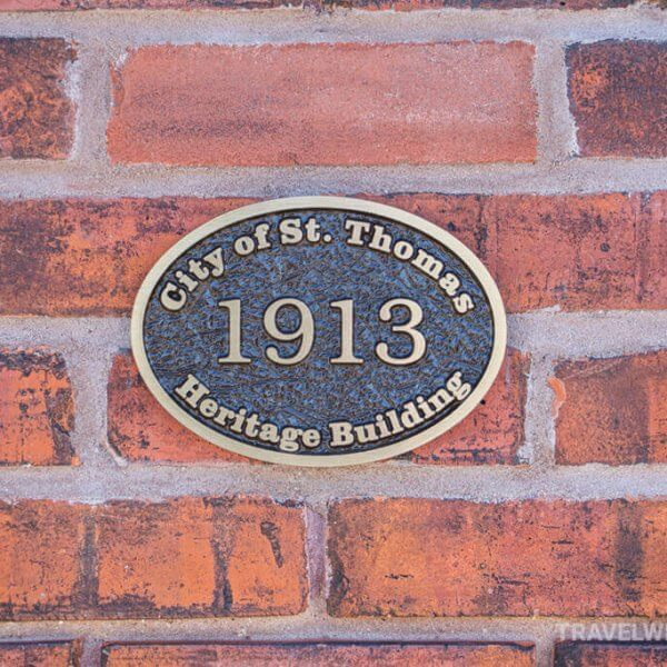 City of St. Thomas Heritage Building Plaque